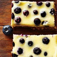 BHG's Newest Recipes:Coconut-Blueberry Cheesecake Bars Recipe