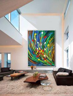 Peinture acrylique abstraite sur toile 20x28inches par chunliangart