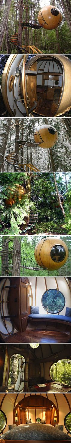 Free Spirit Spheres : Spherical Tree Houses