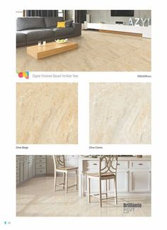 Sustainable #design with your #earth & health in mind.  #Olive Beige & Olive Crema - Millennium Tiles 600x600mm (24x24) Digital PGVT Vitrified Porcelain Floor #Tiles Series   Technical Data: - Quantity/Box: 4 Tiles - Thickness/Tile: 10mm - Water absorption: < 0.1% - Coverage area/Box: 1.44m² - Weight/Box: 31.5kg - 69.45lbs - Appearance: Polished  Millennium Vitrified Tiles by B2B Products is the Europe based Export Office of India's leading Tile Manufacturer Millennium Tiles Pvt. Ltd.
