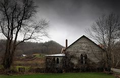 Abandoned Spanishburg Church.. Photographers comment...This old abandoned church in Spanishburg West Virginia has been a frequent stop for me over the years. Returning on a stormy day, the turbulent skies added to the dark feel of this place.