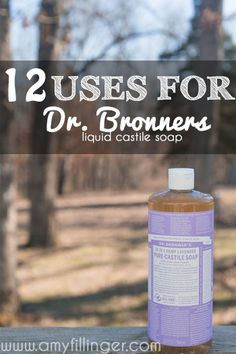 12 uses for Dr. Bronners liquid castile soap. My favorite uses for Dr. Bronners, I use this stuff for EVERYTHING!