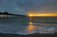 Venice Florida fishing pier with the sunset. #amazingjulesphotography #amazingjulespho #amazingjules #beach #ocean #floridagulfcoast #tourist #turquoisewaters #pier #venicepier #venice #sharkys #sharkysvenice #ocean #florida #venicefishing #venicefishingpier #floridavacation #floridavaca #abstract #vacation #turquoise #sunset #inspirational #inspirationalphoto #calm to be purchased at www.julie-bryant...., Facebook at Amazing Jules Photography.