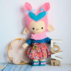 Lalka - troll - Foszka - 46 cm #clothdoll #doll #handmade #stuffed #toy @pracownia.malykoziolek #firstdoll Stuffed Toy, Troll, Doll Clothes, Handmade, Furniture, Home Decor, Hand Made, Decoration Home, Room Decor