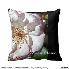 "Throw Pillow ""Love in Summer"" design image"