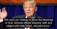 Trump Promotes Religious Indoctrination In Public School Classrooms  News #news #alternativenews
