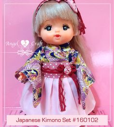 Mell Chan | Japanese Kimono Set #160102 - Angel Loves2Craft