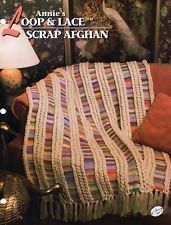 Loop N Lace Scrap Afghan Annie's Crochet Afghan Pattern Instruction Leaflet