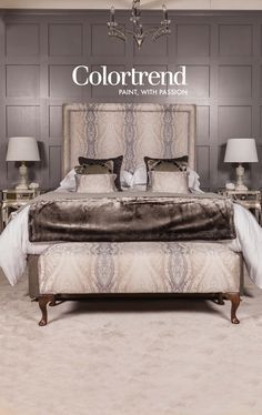 Our Shades of Grey' bedroom is a hit at Ideal Home Show Ideal Home, Headboard Designs, Interior Matt, Ideal Home Show, Headboard Styles, Color Trends, Headboard, Trending Paint Colors, Interior Design Work