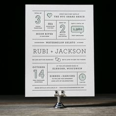 Year In Review wedding invitation by Amanda Jane Jones for Bella Figura. Customize yours with Paper Passionista.