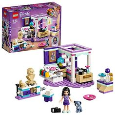 LEGO Friends Emma's Deluxe Bedroom 41342 Building Kit Piece), Multicolor Lego Bedroom, Bedroom Crafts, Lego City, Top Gifts For Kids, Lego Building Sets, Lego Friends Sets, Cat Stands, Buy Lego, Lego Lego