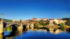 #prague #bridge #river #castle
