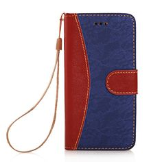 iPhone 6 Case KINGCOOL(TM) Elegant Flower Pattern Button Design Wallet Type PU Leather Flip Stand Hard Case Cover for Apple iPhone 6 4.7 Inch(Dark Blue) Specially designed for Apple iPhone 4.7 inch Made of high quality PU leather material+magnetic flip design Includes slots to store your credit cards / business cards Provides great protection with easy installation Full access to all functions