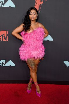 Celebrities attended the 2019 MTV VMAs and walked the red carpet Pink Birthday, Birthday Dresses, Birthday Outfits, 16th Birthday, Birthday Celebration, Birthday Ideas, Kylie Jenner Birthday, Black Chyna, Monday Dress