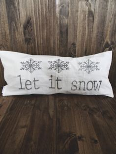 Let It Snow 12 x 24 Christmas Lumbar Pillow Cover Christmas Cushion Covers, Christmas Cushions, Lumbar Pillow, Bed Pillows, Let It Snow, Let It Be, House Warming, Pillow Covers, Seasons
