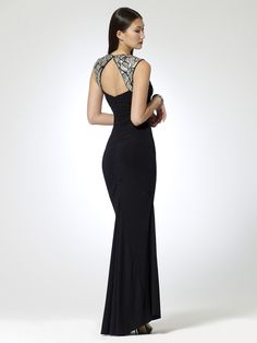 EVENING DRESSES | Sequin Cap Sleeve Gown | Caché