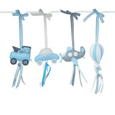 If your little boy is loving trains, then our Transport Dingle Dangles in Blue and Grey is perfect for any little boy's train theme nursery!
