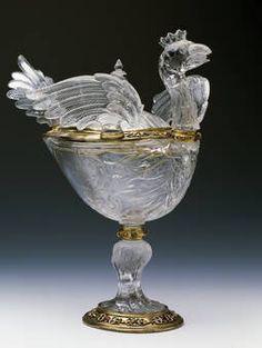 """""""Vaso con forma de pavo"""", Taller de los Sarachi, ca. 1610"""