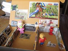 Cardboard Dollhouse: box + magazine + glue stick = imagination time!