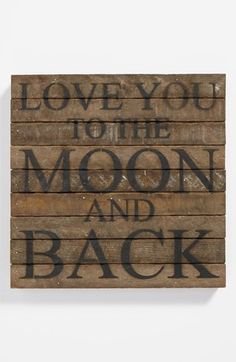 'Love You to the Moon' Repurposed Wood Wall Art | Nordstrom