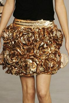 Love this Gold Skirt ♥Manhattan Girl♥