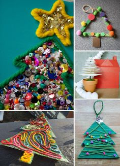 O Tannenbaum! 10 Christmas Tree Crafts for Kids #holidays #projects *Saving this for later. Love this list of ideas...