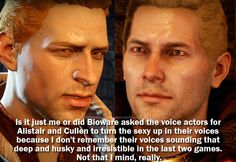 Found this and yes they are awesome. But I thought Cullen was great in DAO too...