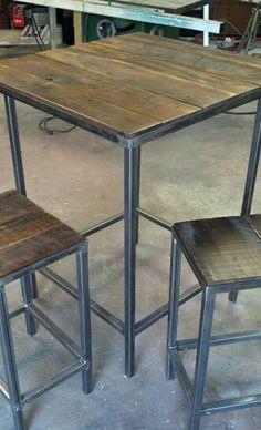 Rustic Industrial Bar Table