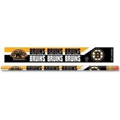"Boston Bruins Pencil 12 Pack by WinCraft. $6.99. Boston Bruins Pencil 12 Pack. Wooden pencil is 7"" x 0.25"" diameter. Each pencil features team logo with eraser. Officially licensed made by Wincraft. Made in the USA.. Save 30%!"