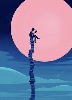 Illustration and Animation Art And Illustration, Book Wallpaper, Wallpaper Backgrounds, Reading Wallpaper, Fantasy Kunst, Fantasy Art, Reading Art, Inspiration Art, Art Inspo