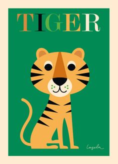 The Tiger poster by famed Swedish illustrator Ingela P Arrhenius for OMM Design would be a great addition to a room or playroom . Comes frameless but will easily fit into Ikea RIBBA frames. Tiger Poster, Lion Poster, Poster Wall, Poster Prints, Art Prints, Poster Poster, Art Tigre, Illustrator, Tiger Art
