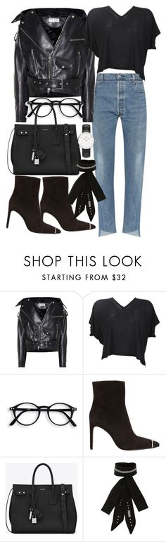 """""""Untitled #21132"""" by florencia95 ❤ liked on Polyvore featuring Balenciaga, Acne Studios, Alexander Wang, Yves Saint Laurent, River Island and Daniel Wellington"""