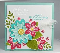 Flower Patch Birthday #card designed by Jill Franchett #papercrafts
