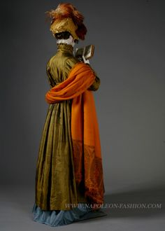 Redingote ca. 1810-13 and shawl ca. 1808 From Napoleon
