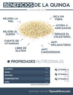 #Infografia Beneficios de la quinoa via @Tips_nutritivos
