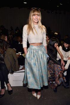 Zimmermann - Front Row - Mercedes-Benz Fashion Week Fall 2015 - Celebrity Fashion Trends