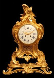 One NOS Vtg Brass Plated Metal Cherub Decoration Clock Face Corner Ornament 1
