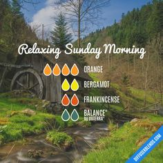 Relaxing Sunday Morning - Essential Oil Diffuser Blend