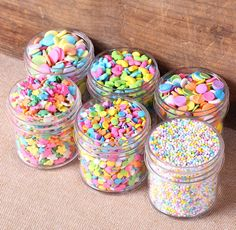 Pastel Rainbow Sprinkles Set Easter by thebakersconfections