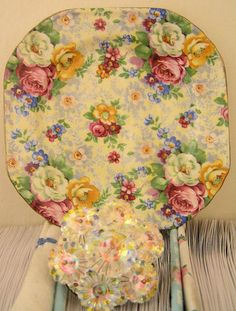 Chintz plate ~ beautiful roses