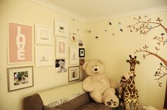 adorable & classy baby girl's room. Plus we already have the big bear :)