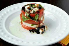 Caprese.  salad stacks