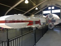 Life size X-wing fighter!  Wow!  23 tons, 5,335,200+ bricks!