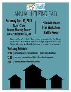 Interested in owning a home or already do? You don't want to miss this. Presented by the West-side Housing Partnership.