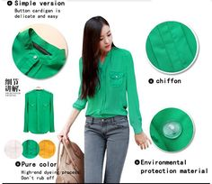 casual dress Shoulder strap Chiffon shirt for women double pocket before the bosom-in Blouses & Shirts from Apparel & Accessories on Aliexpress.com | Alibaba Group