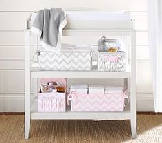 Emerson Changing Table & Change Table Storage Baskets ...I need to get some baskets for our ...
