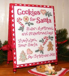 COOKIES FOR SANTA - Counted Cross Stitch Pattern