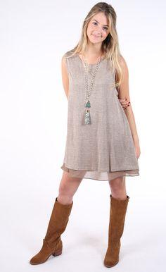 Comfort & Joy Tank Dress - Brown
