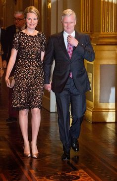 Queen Mathilde and King Philippe of Belgium assist the Autumn Concert at the Royal Palace on 15.10.2014 in Brussels, Belgium.