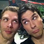 "My two love's, Ian Somerhalder (Damon) and Joseph Morgan (Klaus) ""The Vampire Diaries"". Vampire Diaries Memes, Vampire Diaries Damon, Serie The Vampire Diaries, Vampire Diaries Wallpaper, Vampire Diaries The Originals, Chris Wood Vampire Diaries, Ian Somerhalder Vampire Diaries, Joseph Morgan, Delena"